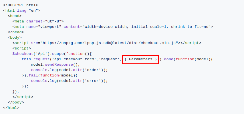 Step by step instruction to accept payments with JavaScript SDK